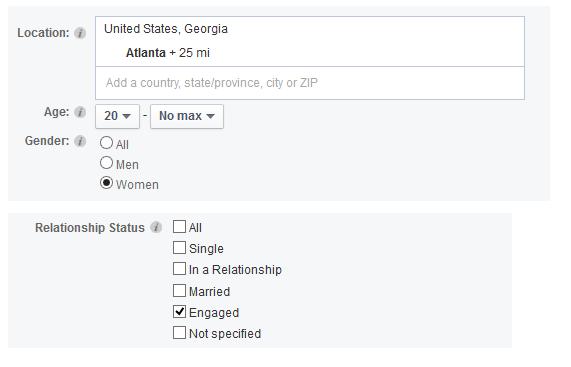 facebook ad targeting engaged women