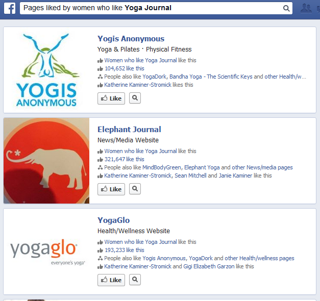 pages liked by women who like yoga journal