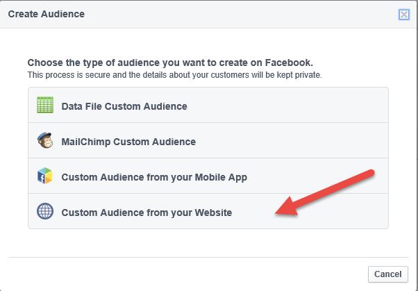 create website custom audience