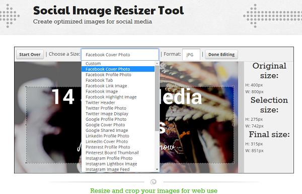 social image resizer