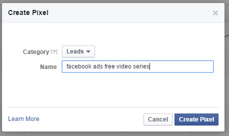 create fb conversion pixel