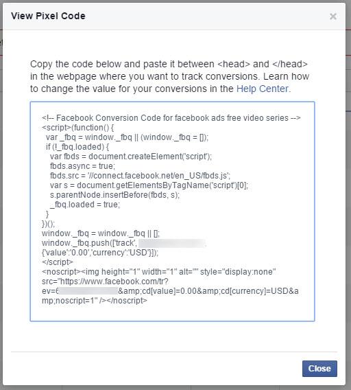 view pixel code