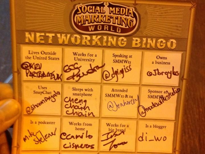 social media marketing world bingo