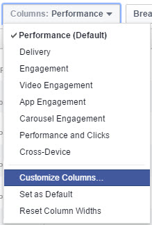 customize columns in ads manager