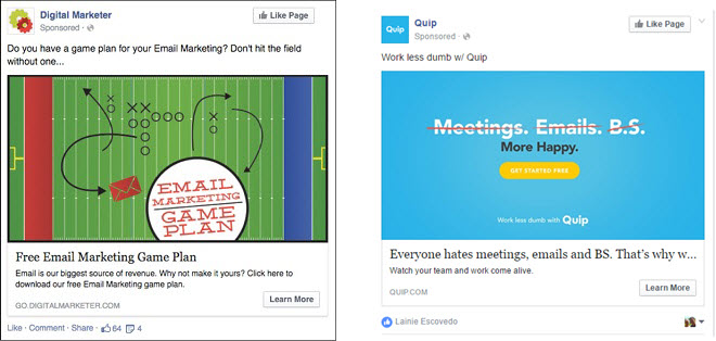 facebook ad image examples