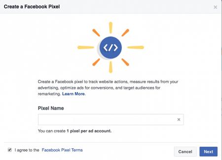 name your facebook pixel