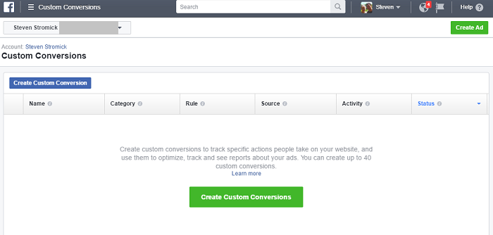 create custom conversion