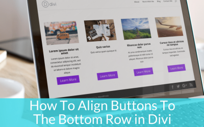How To Align Buttons To The Bottom of a Row