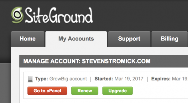 access siteground cpanel