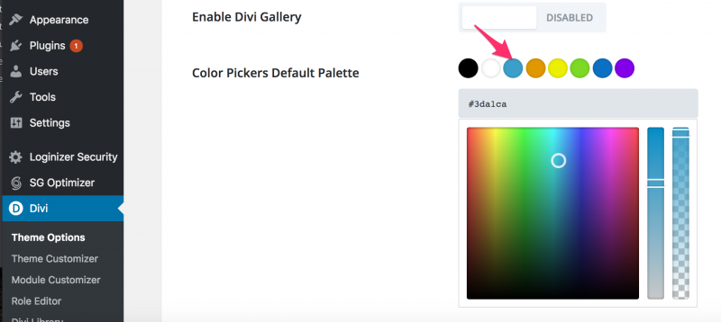 embed your brand colors in divi