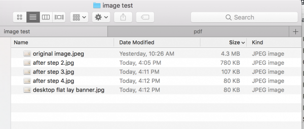 results from image optimization
