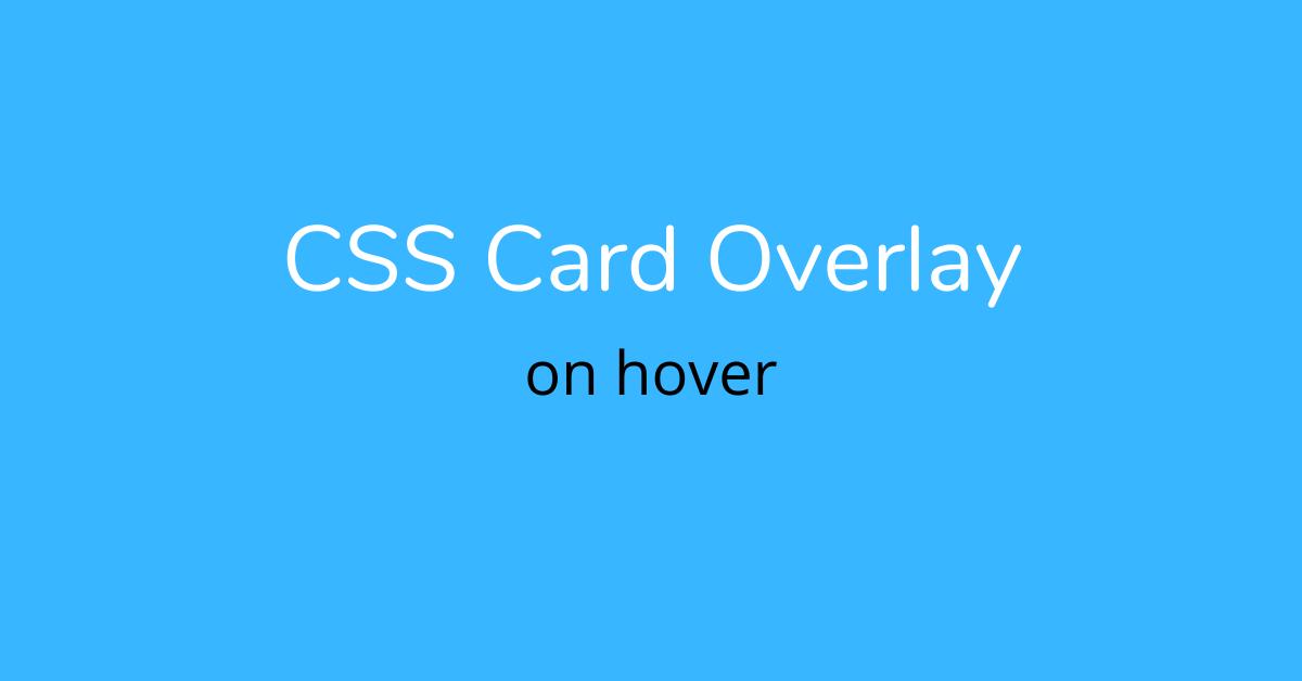 css card overlay